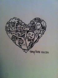 Doodle Heart by jirjirjir