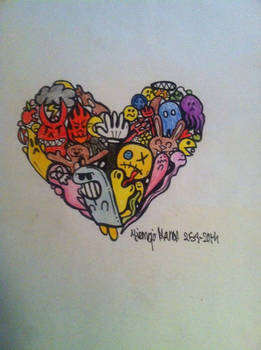 Doodle Heart Colored Version