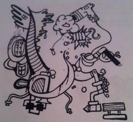 Quick late night doodling by jirjirjir