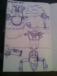 Random pen drawing by jirjirjir