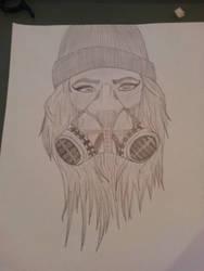 Girl with graffiti mask