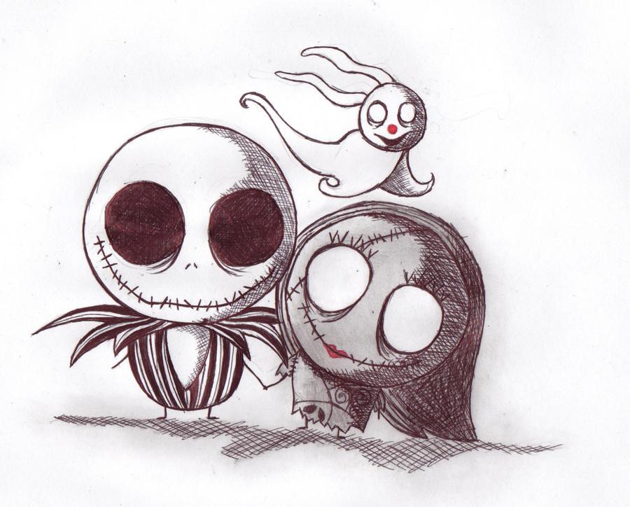 Jack Skellington And Zero Drawings
