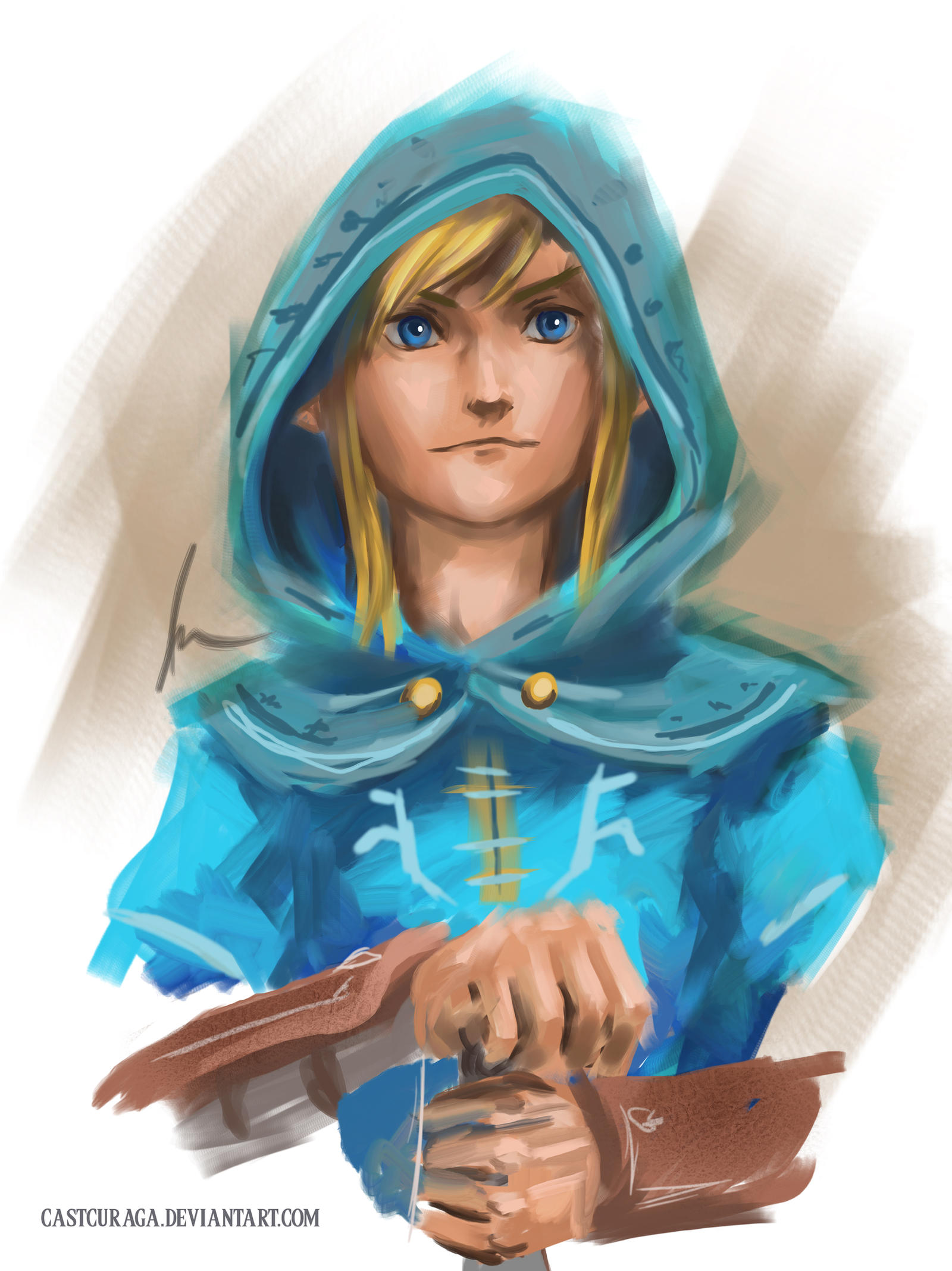 how to draw link from zelda breath of the wild