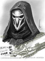 Sketchbook 2017 Page 2 : Reaper - Overwatch by castcuraga