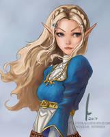 Zelda - Legend of Zelda : Breath of the Wild by castcuraga