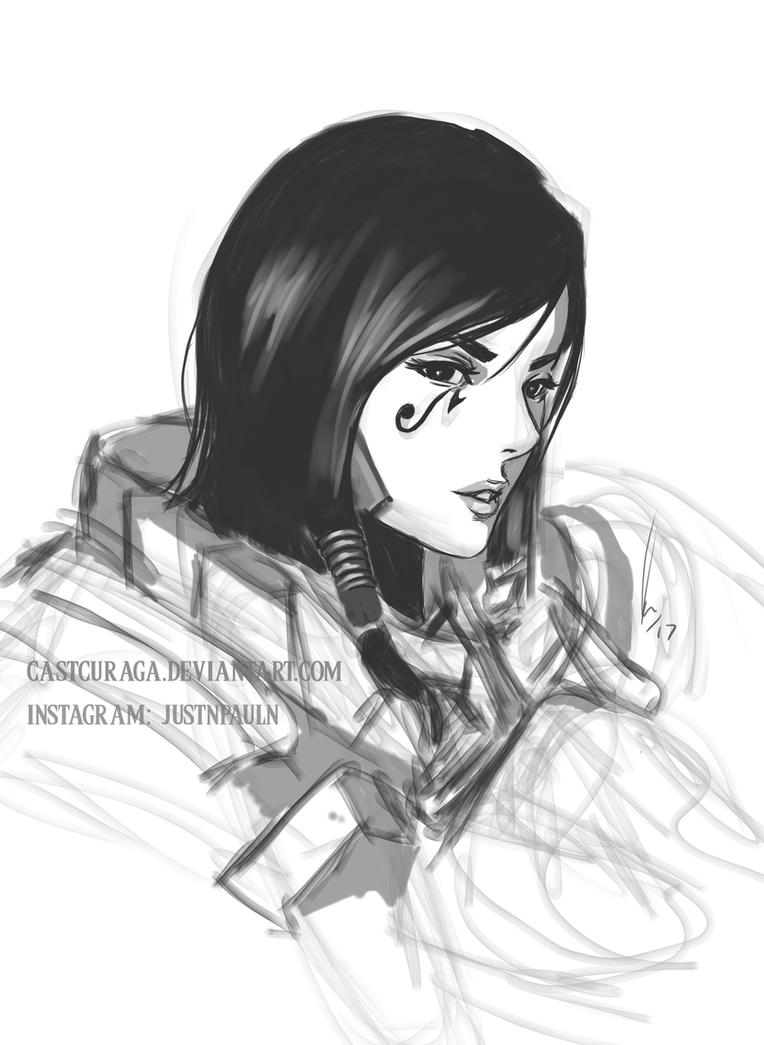Pharah - Overwatch WIP by castcuraga