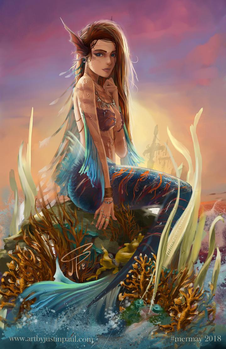 Mermaid for #mermay 2018 by castcuraga