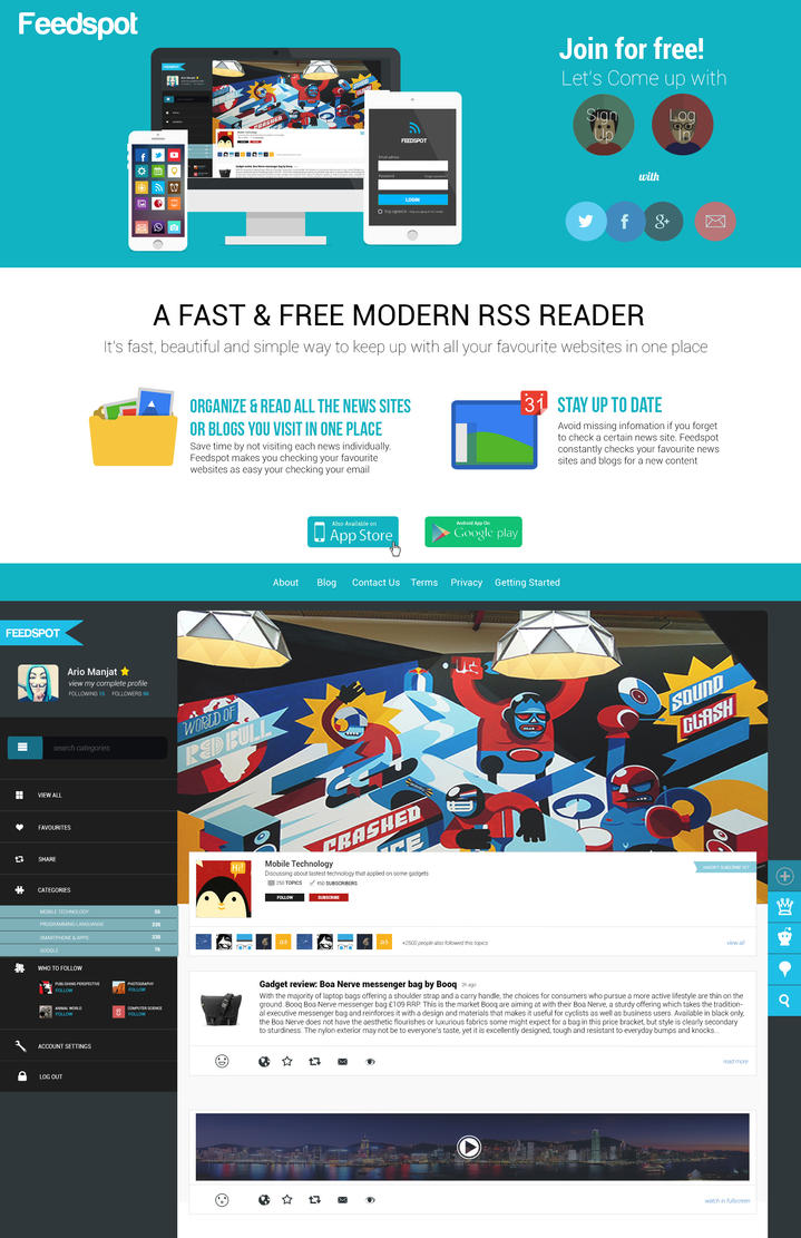 Feedspot User Interfaces Design by manjatsonic