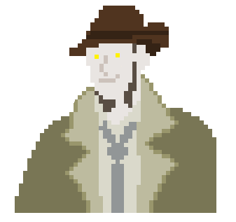 Pixel Art of Nick Valentine by umbrephlosion