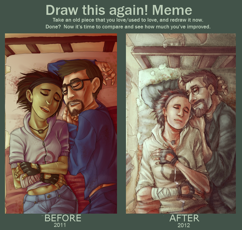 Draw this again meme by Skellagirl