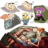 Despicable sketchdump 2 by Skellagirl