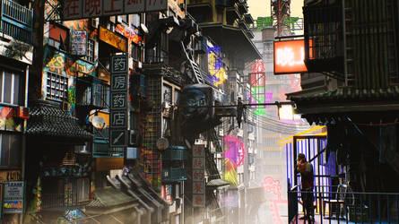 Gmod   Kowloon Sky City by OlmateUbafest