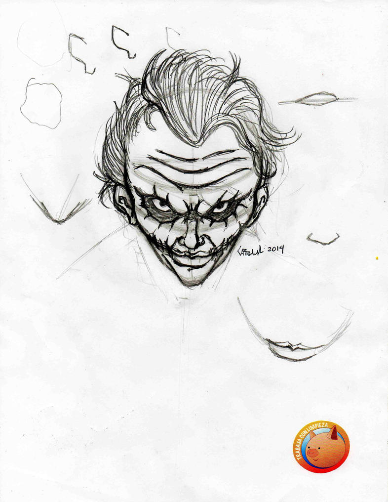 Joker Face Down Sketch By TefenTheScorpion