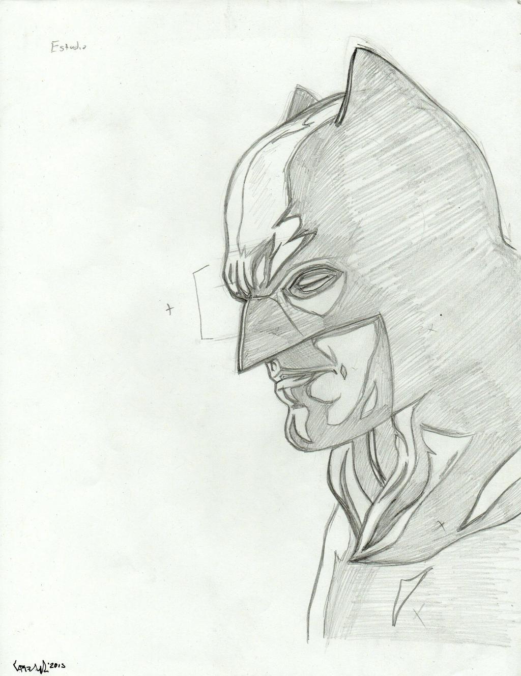 Dawn of Justice Batman pencil sketch by TefenTheScorpion ...