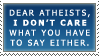 atheists stamp by pukingpastilles