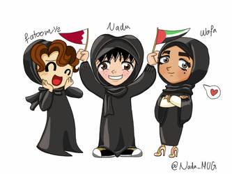 me Wafa and Fatoom by Nada-Muhammad