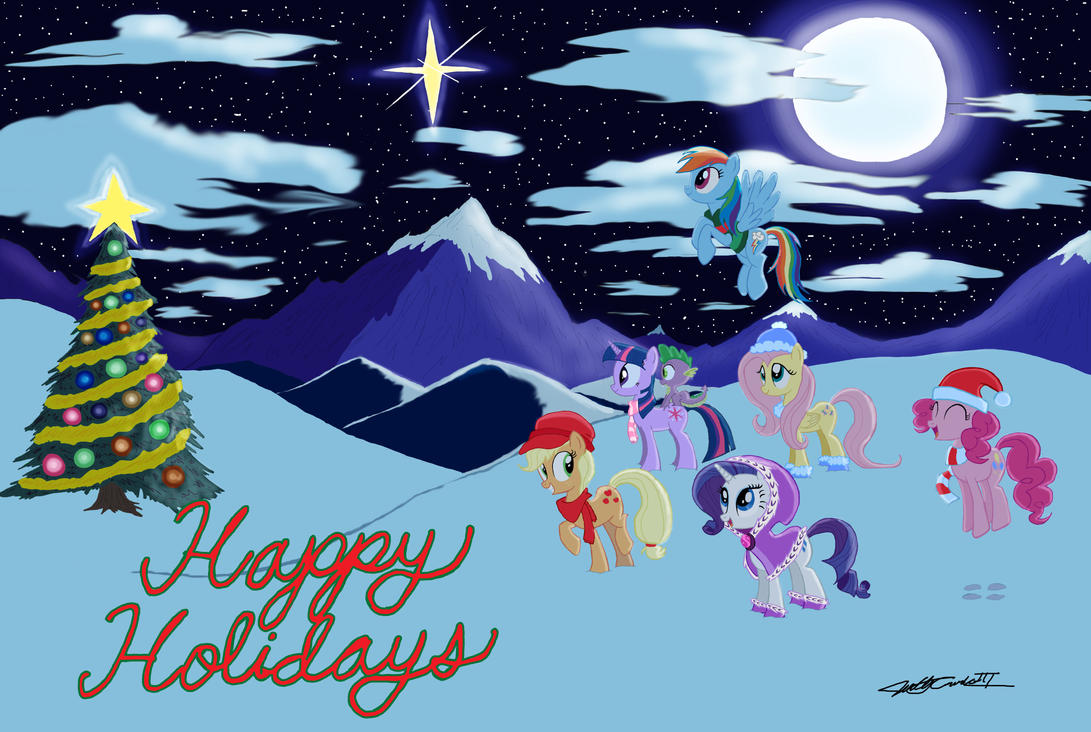 MLP - Happy Holidays from Equestria by WillisNinety-Six