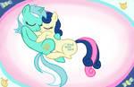 MLP - Cuddle Up, Lyra and Bon Bon