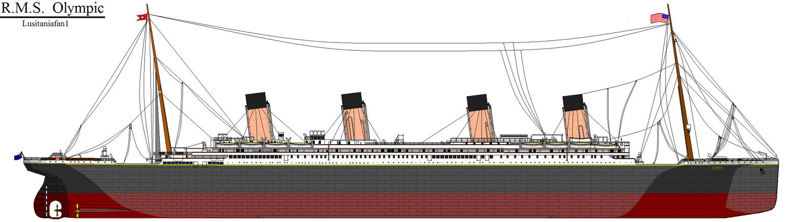 RMS Olympic By Lusitaniafan1 On DeviantArt