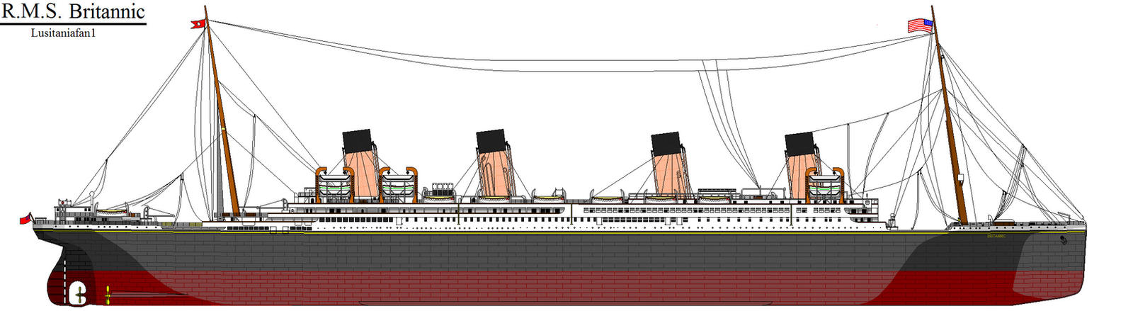 RMS Britannic by Lusitaniafan1 on DeviantArt
