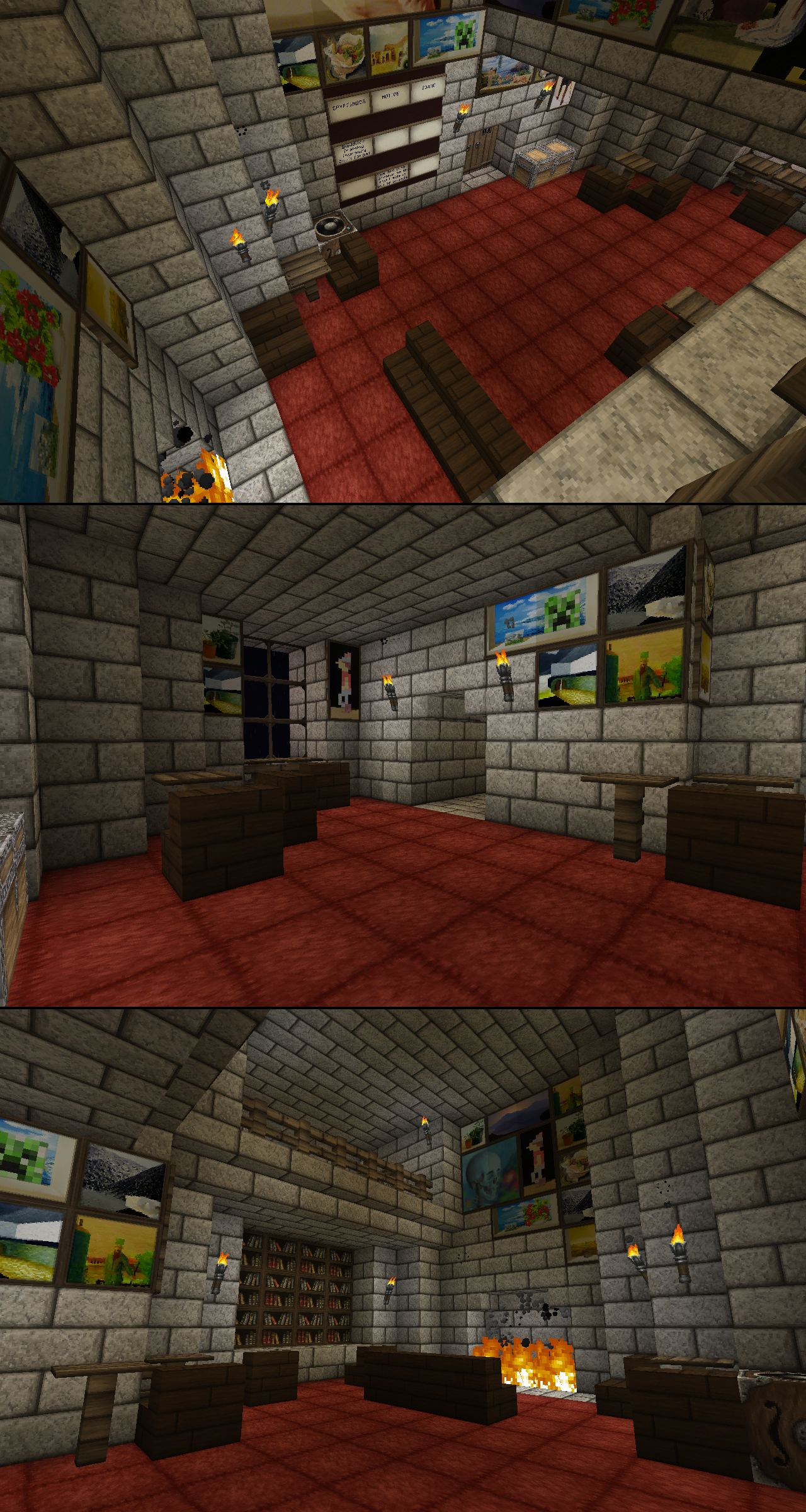 Gryffindor Common Room Minecraft An Inaccurate Hogwarts...