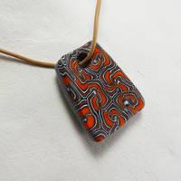 Orange Swirl Pendant by Mdnghtkith