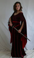 medieval dress with sword