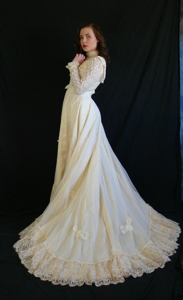 victorian dress full train by magikstock