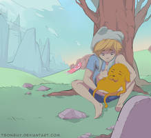 Adventure Time - Jake the dog and Finn the human by TsongUy