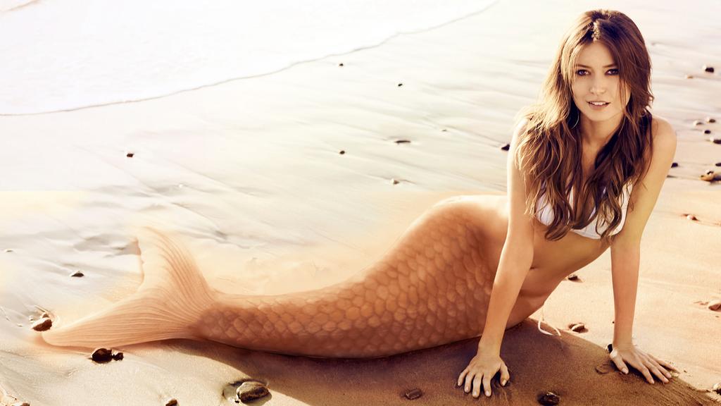 Sepia-tone Mermaid by blutooth58
