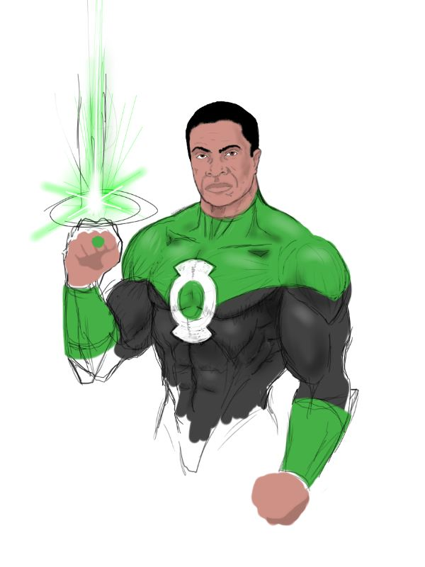 Green Lantern John Stewart WIP by wickedsteve