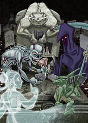 G is 4 Gargoyle, Grim Reaper, Goblin, Ghost, Ghoul by jrosenbomb