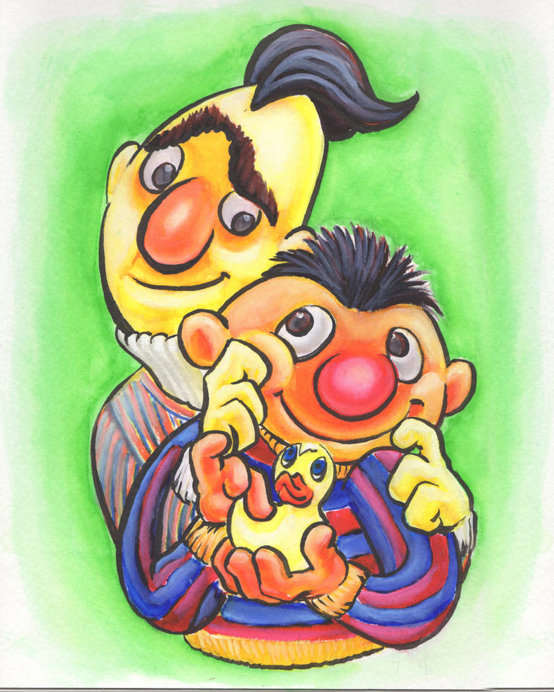 Ernie and bert by jrosenbomb
