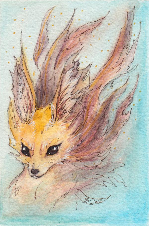 Fox Flame by JuliaBusko