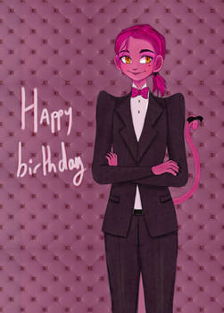 Gift for yoyosketch birthday oc : Pinky
