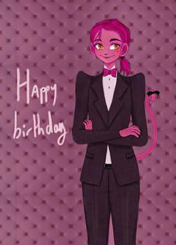 Gift for yoyosketch birthday oc : Pinky
