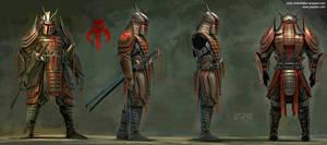Samurai Boba Fett Profile art for fabrication