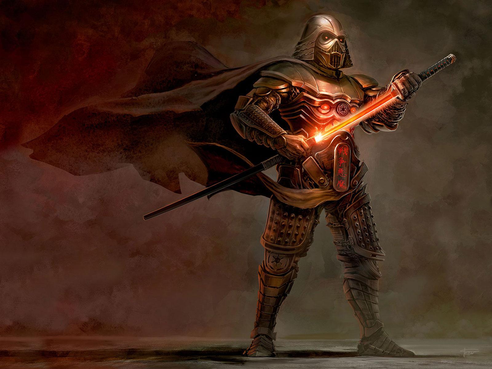 Samurai Vader by cgfelker