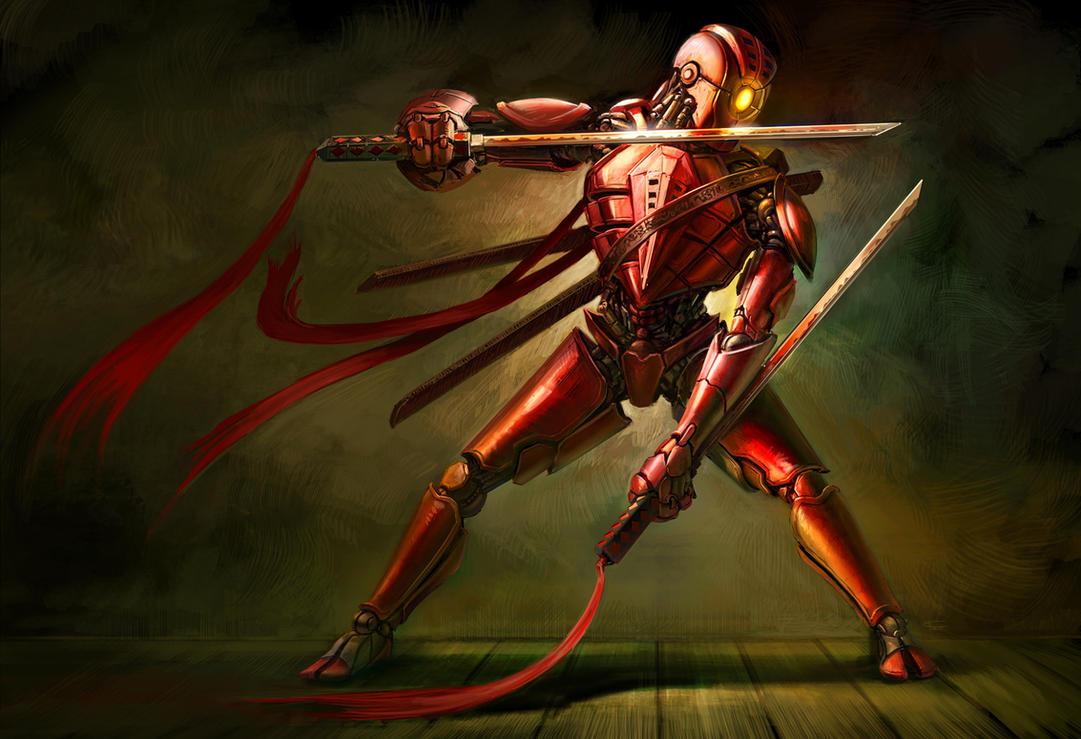 Ominous the Red Ninja by cgfelker