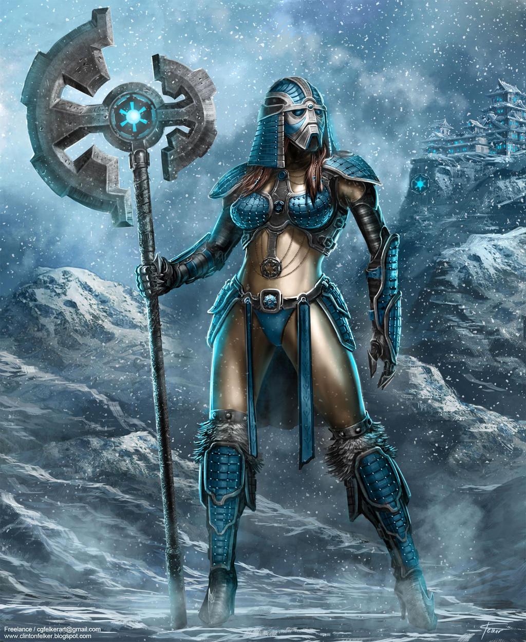 Samurai SW female armor concept by cgfelker