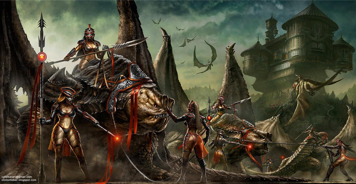 Rancor Dragons by cgfelker