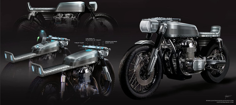 Cafe Racer_Tank design_Tech Integration by cgfelker