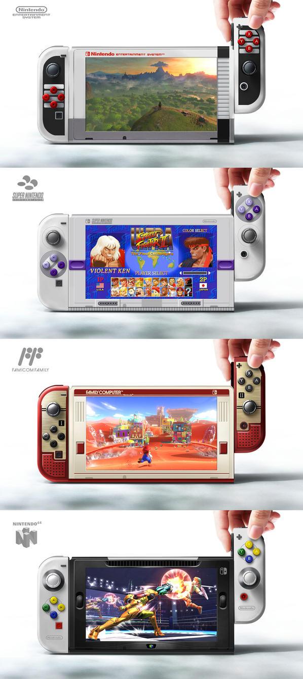 Nintendo Switch design fun by cgfelker
