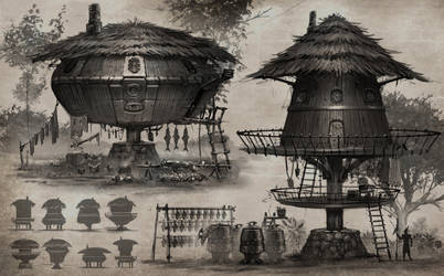 Exterior hut concepts by cgfelker