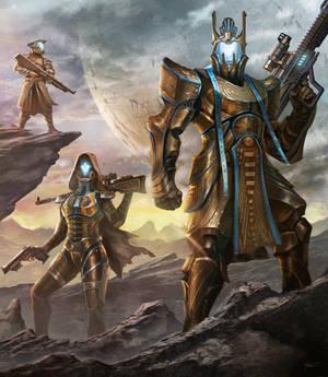 Destiny Titan Concept C with Friends!