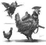 Destiny Cayde-6 Chicken Armor concept