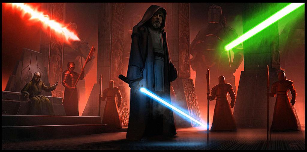 Speculative Last Jedi art: Throne Room battle