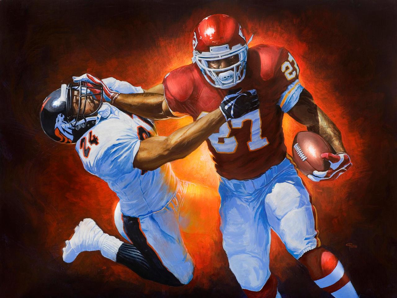 NFL KC Chiefs Larry Johnson by cgfelker