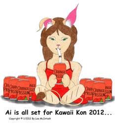 Ai - Kawaii Kon's Mascot by cartoonistforchrist