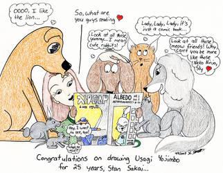 Stan Sakai 2009 by cartoonistforchrist